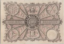 Italie 100 Lire Moneta Patriottica - Lion de Venise 1848