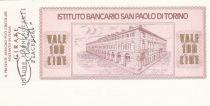 Italie 100 Lires  lIstituto Bancario San Paolo di Torino - 1976 - Piacenza - Neuf