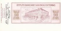 Italie 100 Lires  lIstituto Bancario San Paolo di Torino - 1976 - Turin - Neuf