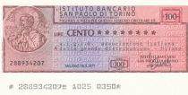 Italie 100 Lires  lIstituto Bancario San Paolo di Torino - 1977 - Milan - Neuf