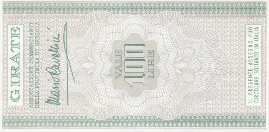Italie 100 Lires Banca S.Paolo-Brescia - 1976 - Neuf