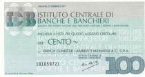 Italie 100 Lires Istituto Centrale di Banche E Banchieri - 1977 - Neuf