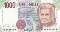 Italie 1000 Lire - 03-10-1980 - M. Montessori, Enfants à l\'école - Série BC