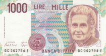 Italie 1000 Lire - 03-10-1980 - M. Montessori, Enfants à l\'école - Série GC