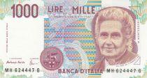 Italie 1000 Lire - 03-10-1980 - M. Motessori, Enfants à l\'école - Série MH