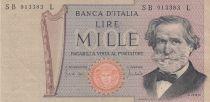 Italie 1000 Lire - 11-03-1971 - G. Verdi - Série SB