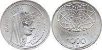Italie 1000 Lire Rome Capital de l\'Italie 1870-1970 - Concordia - Argent - SPL