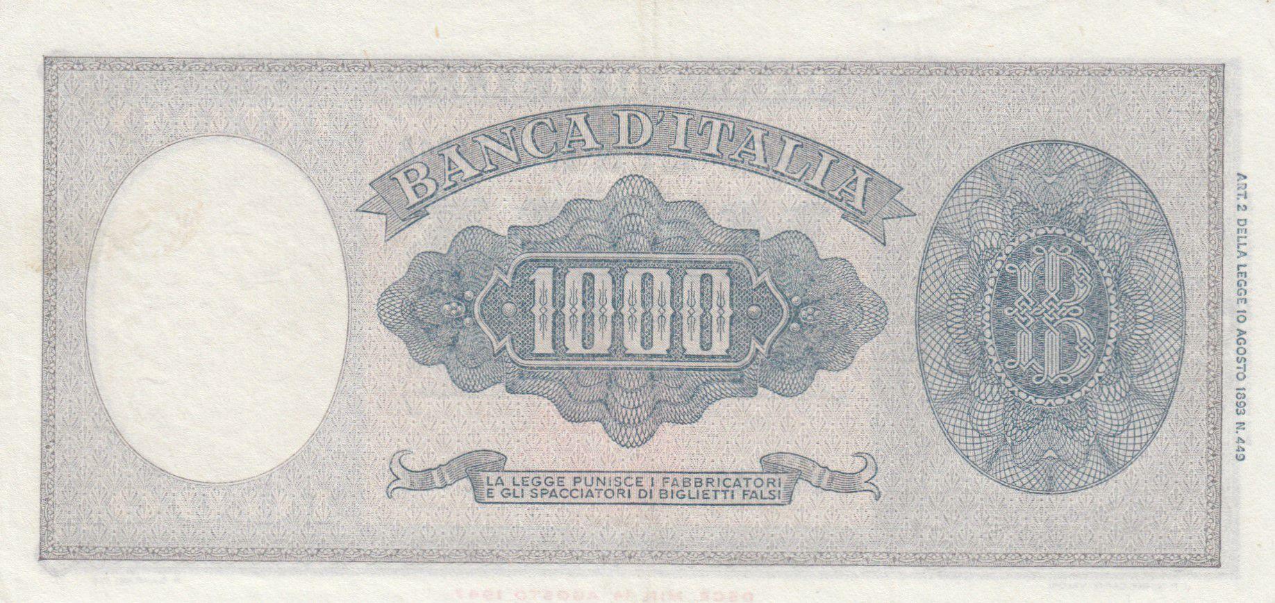 Italie 1000 Lires Italia - 1948 - SUP - Série E 168 - P.88a