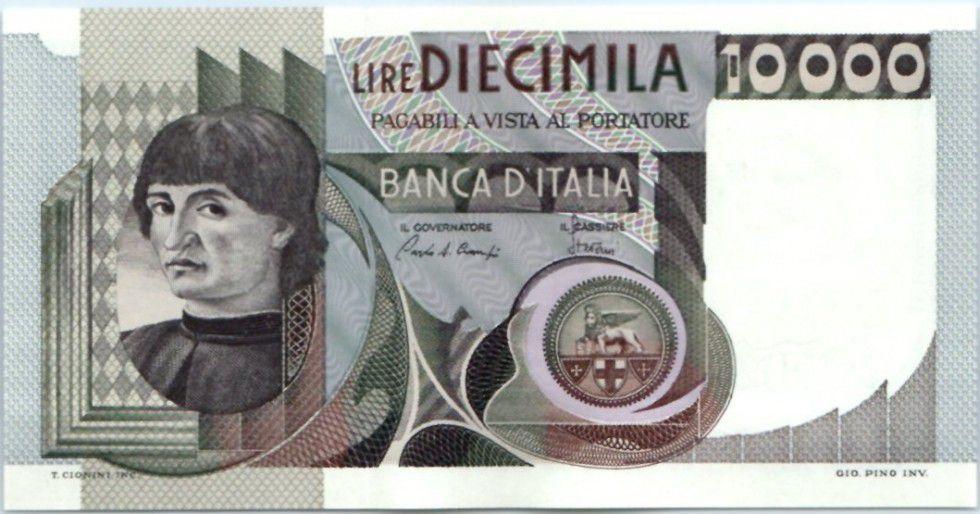 Italie 10000 Lire Andréa Del Castagno
