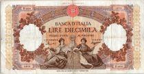 Italie 10000 Lire Venise et Gênes assises - 1958