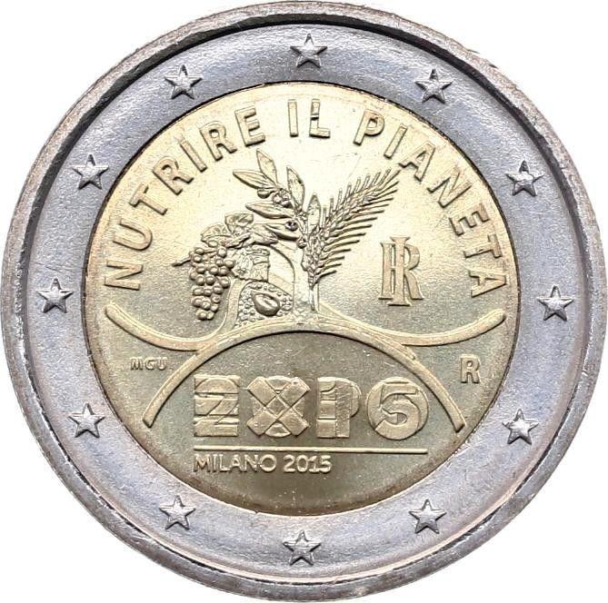 Italie 2 Euro Expo de Milan - 2015