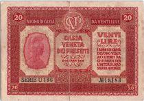 Italie 20 Lire Italia - 1918