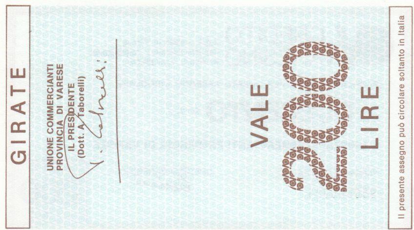 Italie 200 Lires Credito Varesino - 1976 - Neuf
