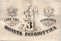 Italie 3 Lire Venise et Milan - Lion de Venise 1848 - 12