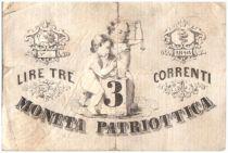 Italie 3 Lire Venise et Milan - Lion de Venise 1848