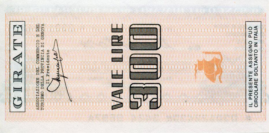 Italie 300 Lire Banco di Chiavari e della Riviera Ligure - 1977 - Genova - Neuf