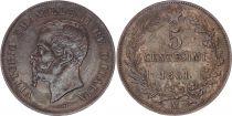 Italie 5 Centesimi Victor Emmanuel II - 1861