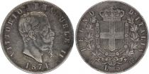 Italie 5 Lire Victor Emmanuel II - 1861-1878 - Argent