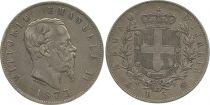 Italie 5 Lire Victor Emmanuel II - 1873