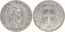 Italie 5 Lire Victor Emmanuel II - 1876