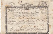 Italie 50 Bajiocchi Monte Di Pieta - 1798 - 2nd ex