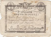 Italie 50 Bajiocchi Monte Di Pieta - 1798 - 3nd ex