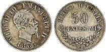 Italie 50 Centesimi Victor Emmanuel II - 1863 MBN