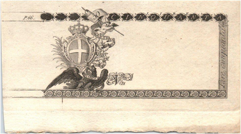 Italie 50 Lire Aigle et Armoiries - 01-04-1796 - Epreuve