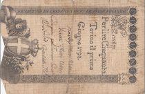 Italie 50 Lire Régie Finanze-Torino - Armoiries 1794 n°109477