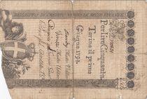 Italie 50 Lire Régie Finanze-Torino - Armoiries 1794 n°120831