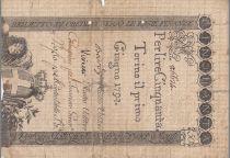 Italie 50 Lire Régie Finanze-Torino - Armoiries 1794 n°86624