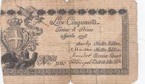 Italie 50 Lire Régie Finanze-Torino - Armoiries 1796 n° 74943