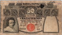 Italie 50 Lire S. Rosa, Minerve - 1909-1921