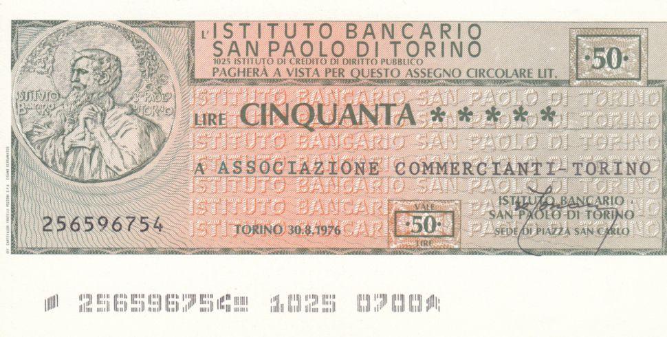Italie 50 Lires Istituto Bancario San Paolo di Torino - 1976 - Neuf