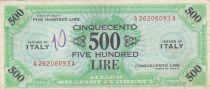 Italie 500 Lires 1943 - Allied Military - TTB