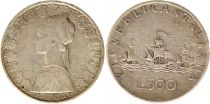 Italie 500 Lires 1958 - République, argent