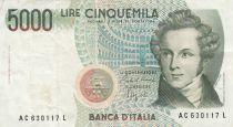 Italie 5000 Lire - 04-01-1985 - V. Bellini, opéra - Série AC