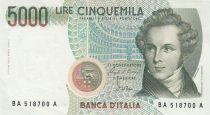 Italie 5000 Lire - 04-01-1985 - V. Bellini, opéra - Série BA