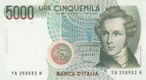 Italie 5000 Lire - 04-01-1985 - V. Bellini, opéra - Série YA