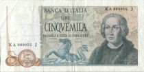 Italie 5000 Lire Christophe Colomb - 3 Caravelles - 1971