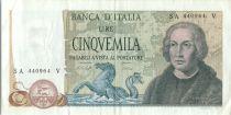 Italie 5000 Lire Christophe Colomb - 3 Caravelles - 1977  SA-V