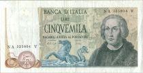 Italie 5000 Lire Christophe Colomb - 3 Caravelles - 1977