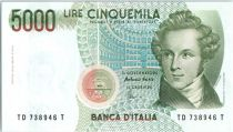 Italie 5000 Lire V. Bellini - Scène de Norma - 1985