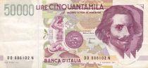 Italie 50000 Lire G.L. Bernini - 1992 - Série DD - TTB