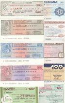 Italie Lot de 10 assegno différents - 1976 et 1977 - Neuf