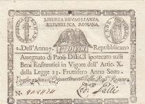 Italien 10 Paoli 1798 - Eagle, Anno 6 - Rep romana