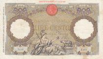 Italien 100 Lire - 20-02-1939  - Woman with sceptre, Eagle - Serial I673