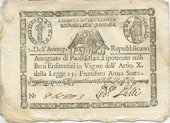 Italy 10 Paoli Eagle - Arms