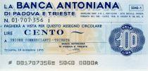 Italy 100 Lire Banca Antonina di Padova i Trieste - 1976 - Trieste - UNC