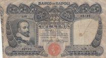 Italy 100 Lire Banco di Napoli - 1908